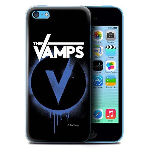 Offiziell The Vamps Hülle / Case für Apple iPhone 5C / Pack 6pcs Muster / The Vamps Graffiti Band Logo Kollektion Blau V