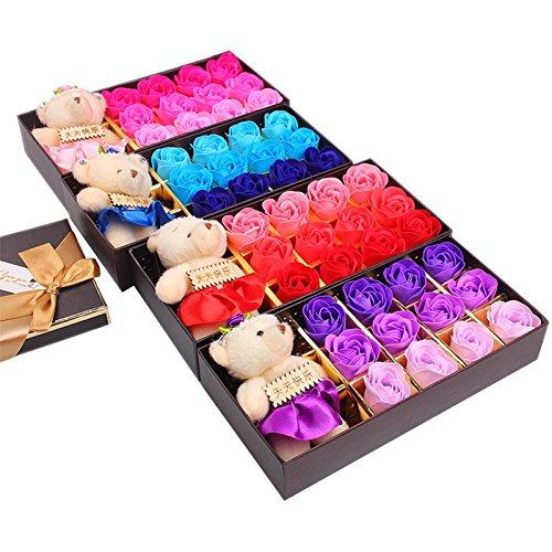 ainest-12pcs-bote-savon-fleur-de-rose-ours-anniversaire-romantique-cadeau-de-saint-valentin-rouge