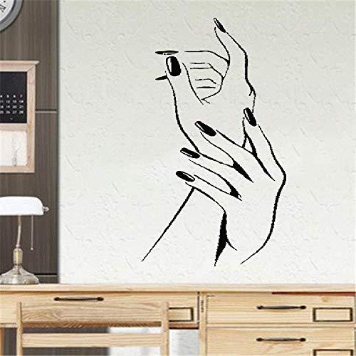 Wandtattoo Wohnzimmer Wandaufkleber Schlafzimmer Elegante Nagellack-Maniküre-Schönheit übergibt...