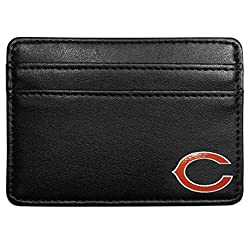 NFL Chicago Bears Leather Weekend Wallet, Black
