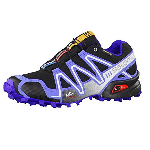 Zapatillas de running para mujer Salomon Speedcross 3, Multicolore - Multicolor (Black/Petunia Blue/Spectrum Blue), 42 2/3 EU