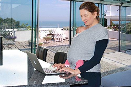 Babytragetuch aus Baumwolle in Premium Qualität | Mehrere Tragepositionen mit diesem weichem und leichtem Tragetuch von Geburt an - 7