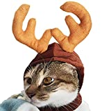 Igemy 1 Stück Nette Xmas Geweih Pet Hut Katze Cosplay Headwear Pet Dress Up Kostüm Heimtierbedarf (Rot)