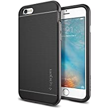 Spigen SGP11618 - Funda para iPhone 6 / 6S, Negro/Plata