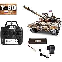 MODELTRONIC Tanque Radio Control Ruso T-90 Pro 1/16 Heng Long versión Metal