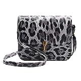 XIAOJING Neue Mode Frauen Outdoor Reise Casual Wild Leopardenmuster Kitz Anhänger Umhängetasche Umhängetasche Handytasche