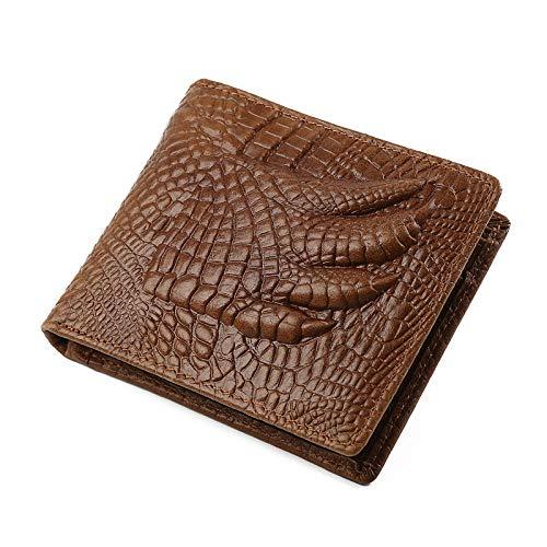 Echtes Leder Brieftasche Id Brieftasche (GAOQQ Echtes Leder Brieftasche ID Kreditkarteninhaber Minimalistischen Stil Geldbörse Für Männer,Black)