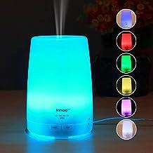300ml Humidificador Ultasónico Aromaterapia | Innoo Tech Difusor Aceites Esenciales | Difusor de Aroma Ambientador Hogar | Luz LED con 7 Colores Elegibles | 4 Modos de Temporizador | Vapor Frío Humedecer y Purificar el Aire en Casa