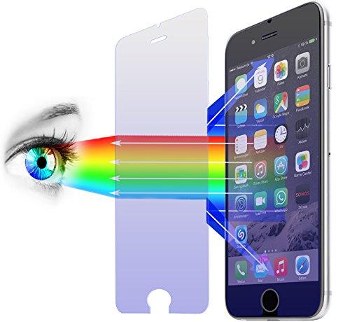 2 x PROTOMAX Schutzglas für Apple iPhone 6 Plus | 6s Plus (5,5 Zoll), Schutzfolie mit PROEYE Blaulichtfilter, 2er Pack