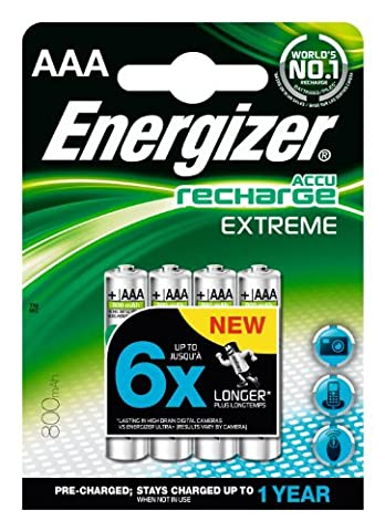 Energizer - Pile Rechargeable Extrême 4 HR03 - 800 mAh
