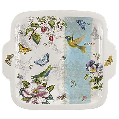 Portmeirion Botanic Garden Hummingbird Square Dessert Plate 27.5cm/10.8