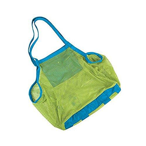 Butterme pliable Plage Mesh sac Large sac de jouet pour enfant et sac de rangement Sac maille filet à linge sac fourre-tout(Boucles d'oreilles avec une paire d'étoiles de mer sur don)