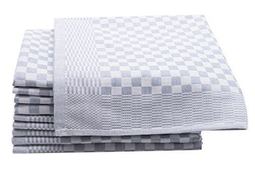Zollner 10er-Set Geschirrtücher aus Baumwolle, anthrazit (weitere verfügbar), ca. 46x70 cm, Serie - Muster Handtuch-set