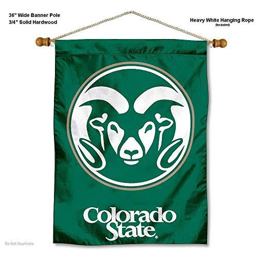 Colorado State Rams Banner mit Stange Zum Aufhängen - Colorado State University