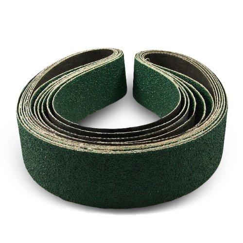 Cinturón de lijado y molienda de circonita de 2 x 36 pulgadas, 6 unidades
