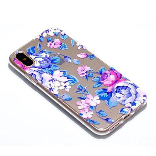 iPhone 8 Custodia, Copertura per iPhone 8, Case Cover protettiva antiurto per silicone per iPhone 8 4.7 , Soft TPU Bumper-Clear (8G-TPU) - Fenicottero Set 2