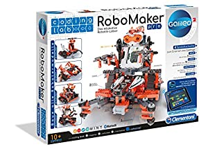 Clementoni RoboMaker Juego de construcción de Robot 250pieza(s) - Juegos de construcción (Juego de construcción de Robot, 8 año(s), 250 Pieza(s), Negro, Gris, Naranja, Italia, 525 mm)