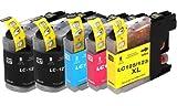 5 Druckerpatronen Kompatibel zu Brother LC123 LC125 LC127 DCP-J4110 MFC-J4410DW MFC-J4510DW mit neustem Chip (BK,C,Y,M)