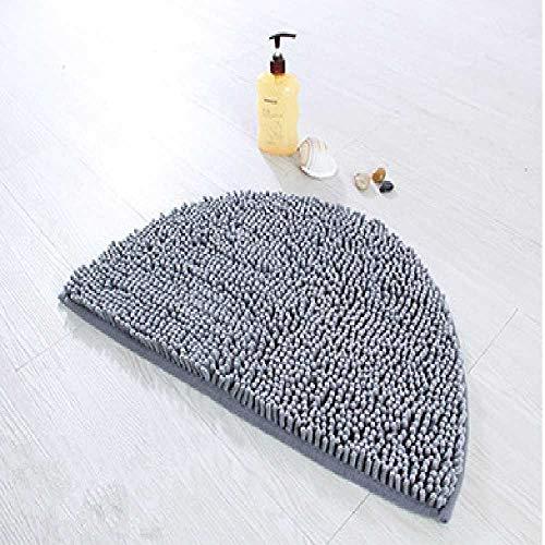 GAO Packen Sie Die E-Mail, Whittaker, Cheryl, Halbrundes Kissen, Teppichboden, Badezimmer, Rutschwasserdichtung. 40cm×63cm/Grau