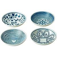 Royal Doulton Bowl 14cm Love Set/4, Porcelain, Blue, 17.8 x 9.5 x 17.4 cm