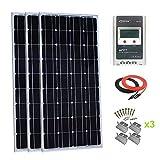 Giosolar 300Watt Monokristallines Solarpanel-Kit mit LCD MPPT 30A Solar-Laderegler für RV Boot netzferne System