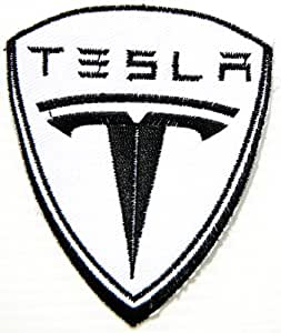 TESLA CAR Logo Racing Jacket T-shirt Ecusson brode Patch Sew Iron on Embroidered Emblem