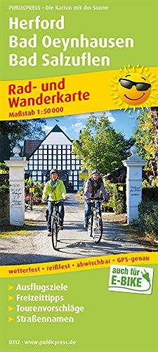 Herford, Bad Oeynhausen, Bad Salzuflen: Rad- und Wanderkarte mit Ausflugszielen, Einkehr- & Freizeittipps und Stadtplänen, wetterfest, reissfest, ... 1:50000 (Rad- und Wanderkarte / RuWK)