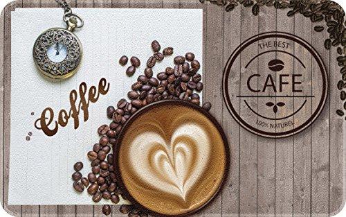 ID Mat Decor DE Cuisine Coffee, Fibres Synthétiques, Marron, 50x80x0,4 cm