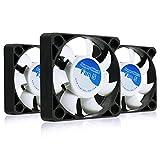 AAB Cooling Super Silent Fan 5 - Leise und Efizient 50mm Gehäuselüfter mit 4 Anti-Vibration-Pads - Mini Ventilator | 3D Drucker | Cooling Lüfter | Cooling Fan | Wentilator - Wertpaket 3 Stück