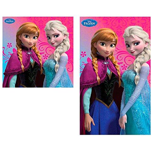 Frozen Copia Asciugamani (Piccolo e Grande ) Bambini  Cotone Casa,Scuola, Asilo Nido