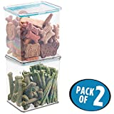 mDesign 2er-Set Aufbewahrungsbox für Haustiernahrung – praktischer 2