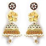 Aarya 24kt Gold Foil flower earring jhum...