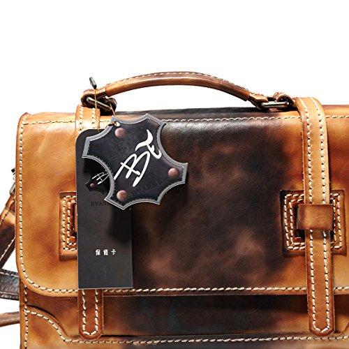 Nuova Borsa a Tracolla Della Borsa Del Cuoio Bvane Messenger Bag Selvaggio Retrò In Pelle Minimalista Piccolo Pacchetto Piazza -160726 (Brown)