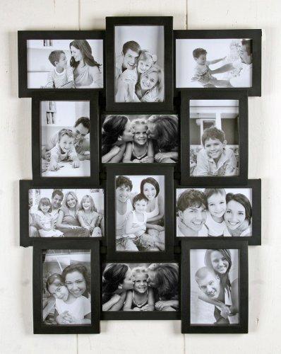 Gourvita Trends MILANO Designer Bilderrahmen aus schwarz lackiertem Holz für 12 Bilder