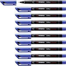 STABILO Superfine Permanent Marker - Blue Pack of 10
