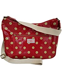 d65ff63bad65 Cath Kidston Button Spot Curve Berry Red Shoulder Cross Body Bag