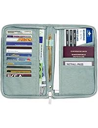Portefeuille passeport, Airlab Pochette étui de protection pour Passeport, cartes de crédit, billets d'avion, un stylo et d'autres accessoires de voyage, taille: 21,3 x 2,5 x 13,5 cm
