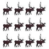 dschili Online 12Kunstharz Antelope Design Vorhang Ring Haken Kleiderbügel für Dusche, Fenster, Tür Vorhänge Dekoration