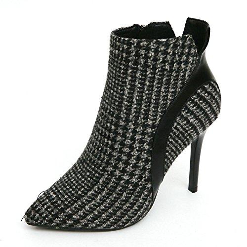 KHSKX-Le Scarpe Con Un Bel Mosaico Martin Ha Maxmara Stivali Invernali Cotone Stivali Il Pendolarismo Di Stivali Da Lavoro 36 Black Thirty-nine