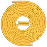 LACCICO Finest Waxed Laces Durchmesser 2 mm Runde Dünne Elegante Gewachste Schnürsenkel Farbe: Gelb Länge: 150 cm