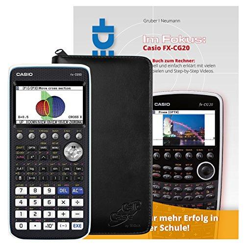 Casio FX-CG 50 + CalcCase GTR Schutztasche + Buch: Im Fokus II: FX-CG20 verständlich erklärt
