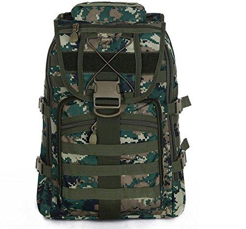 GOUQIN Outdoor Rucksack Klassische Mode Den Multifunktionshebel 50 L Outdoor Rucksäcke Taschen Kombination Klettern Camping Schultern Paket Neue Rucksack Braun