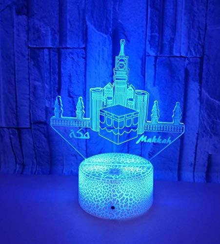 Tempel bunte 3d led kleine Nachtlicht Gebäude bunte Lichter berühren Tischlampe Geschenk 3D Tischlampe