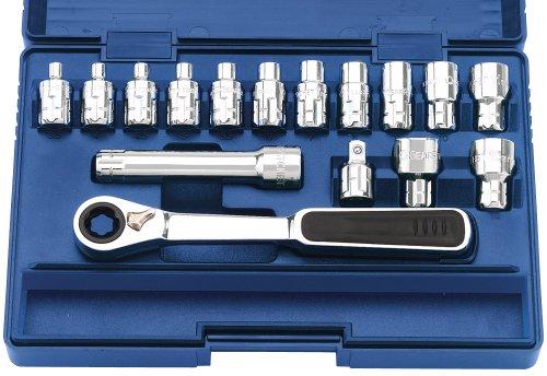 Draper Expert 78673 Clé à cliquet métrique avec jeu de douilles Vortex 13 mm 16 pièces