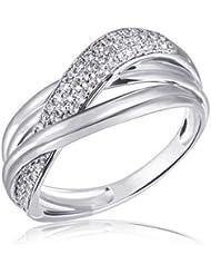 Goldmaid Damen-Ring 925 Sterling Silber Classic Dream 71 weiße Zirkonia Pa R6113S