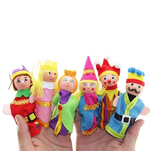 Fingerpuppen Handpuppen 6pcs Finger Spielzeug Handpuppen Weihnachtsgeschenk bezieht sich auf versehentlich