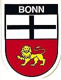 AUTO-AUFKLEBER - Bonn - Gr. ca. 6,5 x 8cm (301524) Stadtwappen Landeswappen Fahne