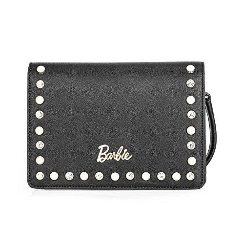 Barbie Borsa donna a tracolla da donna e ragazza in PU Colore Nero Argento Blu Dimensioni 20*6*14.5CM#BBFB541 Nero