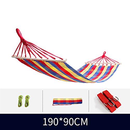 Hammock-GXL GXL Hängematte, Leinwand Widen Outdoor Indoor Dorm Zimmer Kind Erwachsene Swing Bett Hängematte (Farbe : 4) (Vier Pfosten-bett)