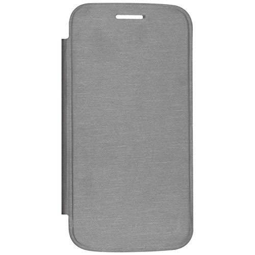 DMG Durable Protective PU Leather Flip Book Cover Case for Micromax A110 Canvas 2 - Grey  available at amazon for Rs.199
